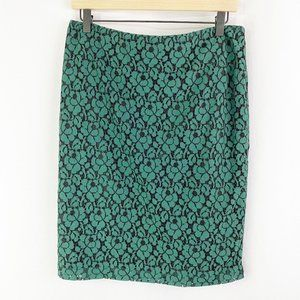 New York & Company Floral Lace Pencil Skirt 8